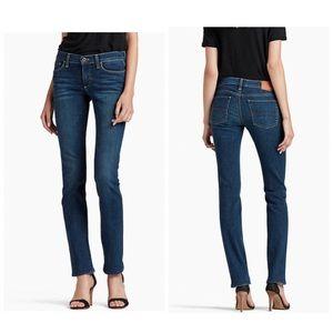 Lucky Brand Sweet Straight Whiskered Dk Blue Jeans